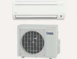 Daikin Ductles Heat Pumps, indoor and outdoor units